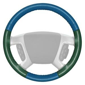 For Cadillac Ats 14 16 Steering Wheel Cover Europerf Perforated Sea Blue