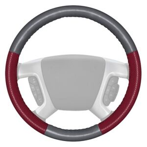 For Ford Expedition 16 18 Steering Wheel Cover Europerf Perforated Gray Steering