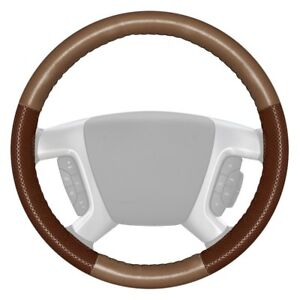 For Porsche Cayenne 09 10 Steering Wheel Cover Europerf Perforated Oak Steering