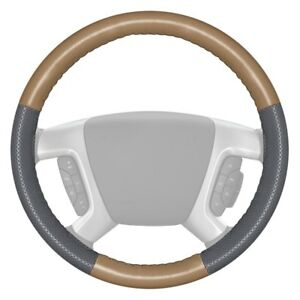Wheelskins Europerf Perforated Sand Steering Wheel Cover W Gray Sides Color