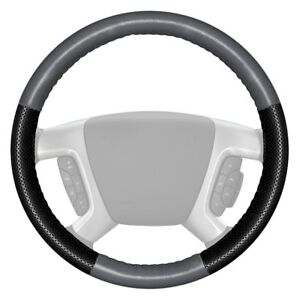 Wheelskins Europerf Perforated Gray Steering Wheel Cover W Black Sides Color