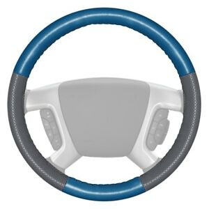 Wheelskins Europerf Perforated Sea Blue Steering Wheel Cover W Gray Sides Color