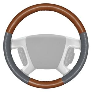 Wheelskins Europerf Perforated Tan Steering Wheel Cover W Gray Sides Color