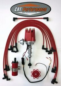 Ford Y Block 256 272 292 312 Small Hei Distributor Red 45k Can Coil Wires