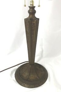 Miller Co Vtg Art Deco Nouveau Table Lamp For Tiffany Stained Slag Glass Shade
