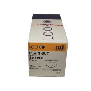 Look Plain Gut Absorbable Reverse Cutting Sutures Angiotech 12 bx