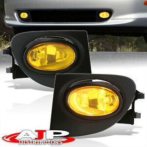 02 05 Civic Si 3dr Ep3 Jdm Yellow Lens Front Driving Fog Lights Lamps Wiring