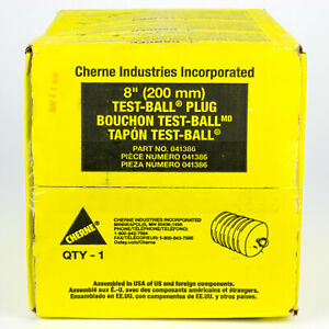 Cherne 8 Inch Pneumatic Test ball 041386 8 Factory Sealed