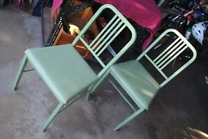 Vintage Early Industrial Tanker Chair Green Simmons Steampunk 2 Available