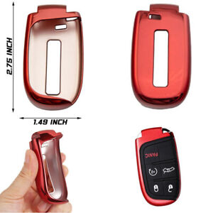 Car Smart Key Holder Fit For Chrysler 200 300 300c Accessories Electro optic Red