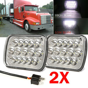 7 X6 Led Headlights For International Harvester 9400i Sba 2000 2001 2002 2003