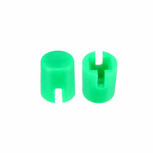 50pcs 4 6x5 5mm Pushbutton Switch Caps Cover Green For 6x6x7 3mm Tact Switch