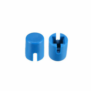 50pcs 4 6x5 5mm Pushbutton Switch Caps Cover Blue For 6x6x7 3mm Tact Switch