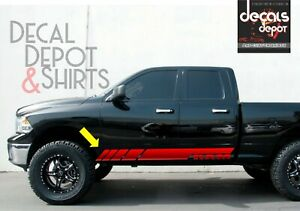 Dodge Ram 1500 2500 3500 Vinyl Decal Side Stripes Kit 2009 2019 4x4 Hemi Rebel