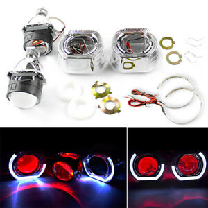 2 5 Bi Xenon Hid Projector Lens Red Demon Eyes Light For H1 H4 H7 Car Assembly