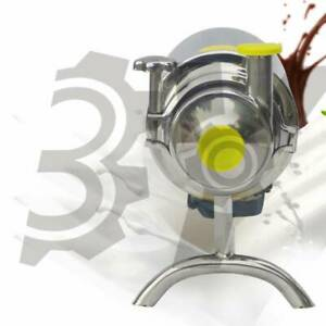 Stainless Steel Sanitary Pump 1t h 0 37kw Beverage Milk Delivery Pump 110v