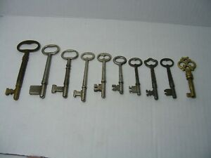 Lot Of 10 Antique Skeleton Furniture Cabinet And Old Lock Keys 2