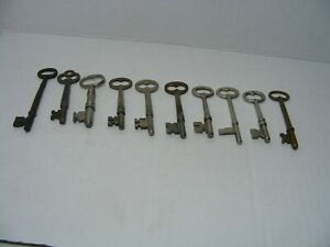 Lot Of 10 Antique Skeleton Furniture Cabinet And Old Lock Keys 3