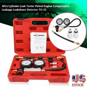 Cylinder Leak Tester Petrol Engine Compression Leakage Leakdown Detector Kits