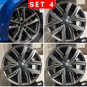 New 19 Gunmetal Machine Face Gt Style Rims Wheels Fits Vw Gti Gli Jetta 45et