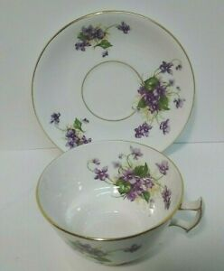Vintage Phoenix Bone China Floral Gold Trim Design Tea Cup And Saucer