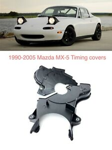 Timing Belt Cover Mid And Lower For 1990 2005 Mazda Miata B66010501e B66010521b