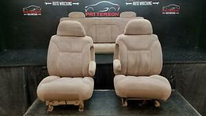 1998 Chevy Pickup 2500 Extended Cab Front Rear Power Seats Tan Brown
