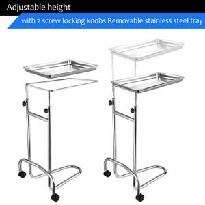 Stainless Steel Adjustable Tray Stand Medical Doctor Tattoo Spa Salon Equipment