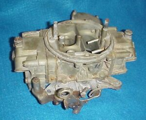 Vintage Holley 3 Bbl Barrel Carb Carburetor 1050 Cfm 4604 Chevy Ford Dodge Hemi