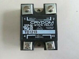 Crydom Td1210 Solid State Relays Industrial Mount 10a 120vac Dc