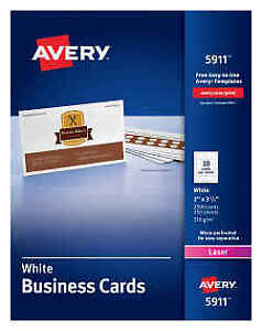 New Avery Laser Business Cards 2 X 3 5 inches White Box Of 2500 Cards 5911