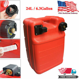 24l Portable Boat Fuel Tank For Yamaha Marine Outboard Fuel Tank W Connector Us