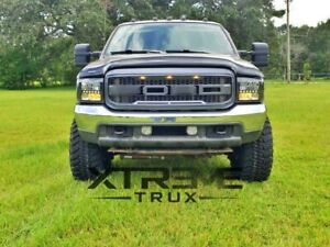 99 04 Raptor Style Grille For 99 04 Ford F250 F350 Super Duty Gray