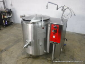 Vulcan Gas K40glt Gas 2 3 Steam Jacketed Tilt Kettle 40 Gallons
