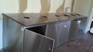 Garbage Receptacle Commercial Trash Can Cabinet Waste Bin Cafeteria Restaurant