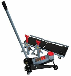 Automotive 3 Ton Heavy Duty Floor Jack Stands Creeper Combo Kit Tools Garage New