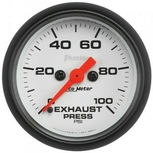 Autometer Phantom Series Exhaust Pressure Gauge 0 100 Psi 5794