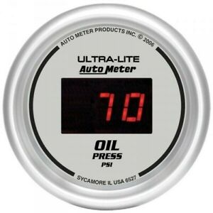 Autometer Ultra Lite Digital Oil Pressure Gauge5 100 Psi 6527
