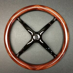 16 Mahogany Model T Steering Wheel Rim W Steel Spider Beautiful Dark Finish