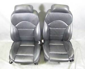 Bmw E39 M5 Factory Front m Sports Seat Pair Black Leather 2000 2003 Used Oem