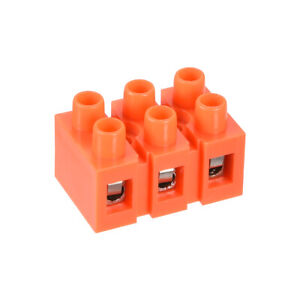 Terminal Block 600v 36a Dual Row 3 Positions Screw Terminal 6 Pcs