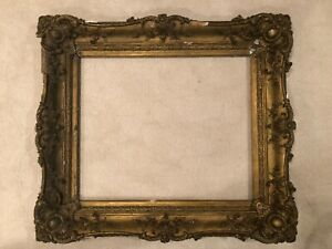 19th Century Large Antique 30x25 Gold Gilt French Style Baroque Picture Frame 9a