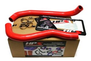 Hps Reinforced Red Silicone Radiator Hose Kit Coolant For Acura 09 14 Tsx 2 4l