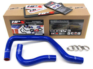 Hps Blue Reinforced Silicone Radiator Hose Kit Coolant For Acura 94 01 Integra