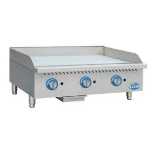 Globe Gg36g 36 Gas Griddle Flat Top Grill