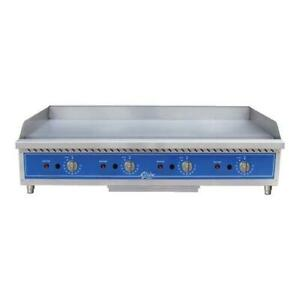 Globe Gg48tg 48 Thermostatic Gas Griddle Flat Top Grill