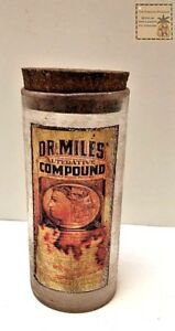 New Size Reproductions Of Vintage Looking Apothecary Jar Dr Miles