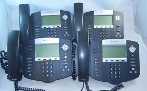 Lot 4 Polycom Soundpoint Ip 550 Sip Digital Poe Phone Working W Base Cord