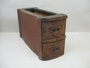Antique Standard Treadle Sewing Machine 2 Drawers Frame W Applied Carvings