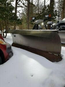 2 Fisher Minute Mount 2 Stainless Steel X Blade 8 7 5 Snow Plows